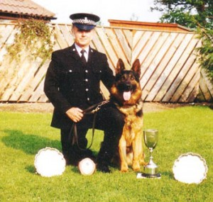 Policeman and German Shepherd